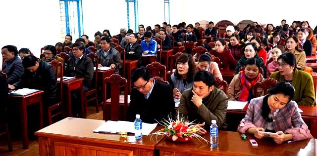 Hội nghị Sơ kết học kỳ I và Triển khai nhiệm vụ học kỳ II năm học 2017 - 2018