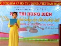 """Hội thi hùng biện """"Câu chuyện tình huống đạo đức và pháp luật"""" dành cho học sinh THCS huyện Quế Sơn năm 2015"""