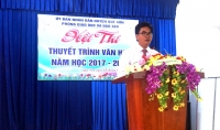 Hội thi Thuyết trình Văn học cấp huyện năm học 2017-2018