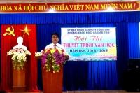 Hội thi Thuyết trình Văn học huyện Quế Sơn năm học 2018-2019