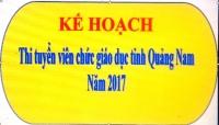 Kế hoạch thi tuyển viên chức giáo dục tỉnh Quảng Nam năm 2017