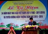 Ngành GDĐT Quế Sơn tổ chức Lễ Kỷ niệm 34 năm ngày Nhà giáo Việt Nam