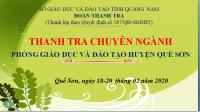 Sở GDĐT Quảng Nam Thanh tra Chuyên ngành Phòng GDĐT Quế Sơn