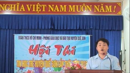 Hội thi Tin học trẻ huyện Quế Sơn lần thứ I năm học 2015-2016