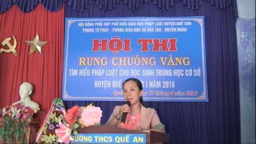 Quế Sơn tổ chức Hội thi tìm hiểu pháp luật cho học sinh THCS