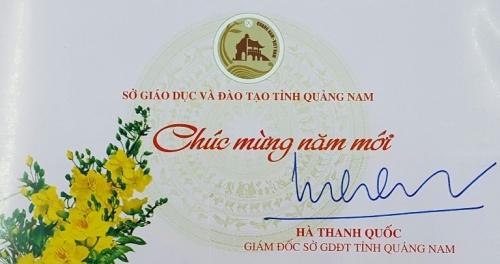 Thiệp Chúc mừng năm mới của Giám đốc Sở GDĐT