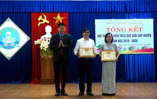 Tổng kết Hội thi Giáo viên THCS dạy giỏi cấp huyện năm học 2019-2020